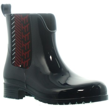Chaussures Femme Bottes de pluie Tommy Hilfiger Bottines  ref_47962 Marine Bleu