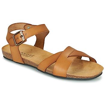 Chaussures Femme Sandales et Nu-pieds André BREHAT Camel