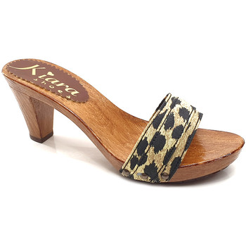 Chaussures Femme Mules Kiara Shoes K5101 Leopard