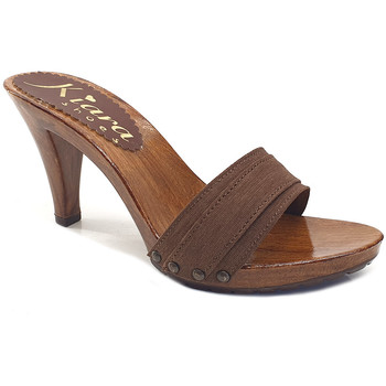 Chaussures Femme Mules Kiara Shoes K6101 Marron