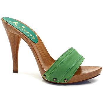 Chaussures Femme Mules Kiara Shoes KM7101 Vert