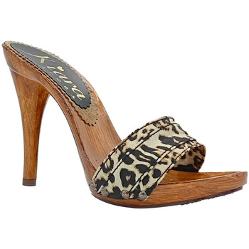Chaussures Femme Mules Kiara Shoes KM7101 Leopard