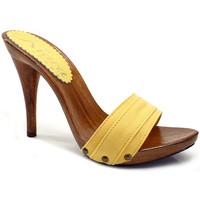 Chaussures Femme Mules Kiara Shoes KM7101 Jaune