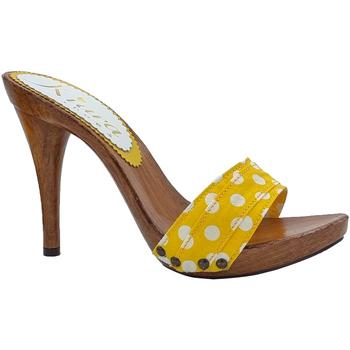 Chaussures Femme Mules Kiara Shoes KM70 Pois Jaune
