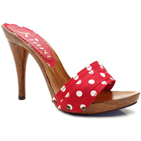 Chaussures Femme Mules Kiara Shoes KM70 Pois Rouge