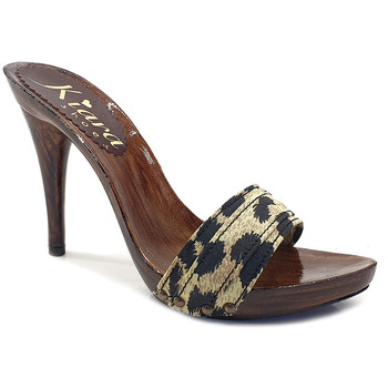 Chaussures Femme Mules Kiara Shoes KM7201 Leopard