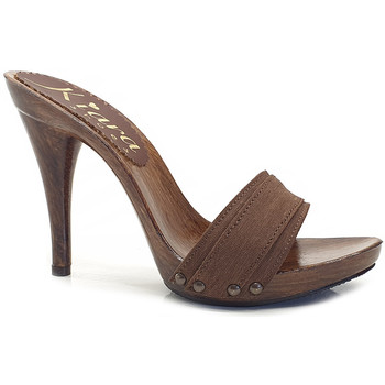 Chaussures Femme Mules Kiara Shoes KM7201 Marron