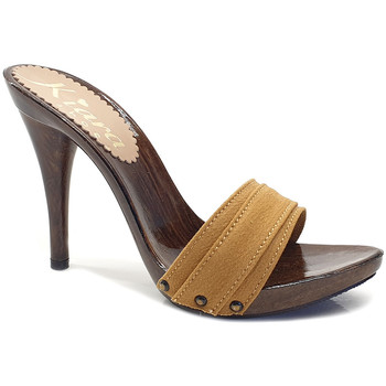 Chaussures Femme Mules Kiara Shoes KM7201 Ocre