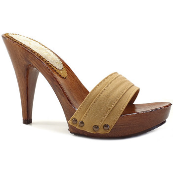Chaussures Femme Mules Kiara Shoes K21101 Ocre