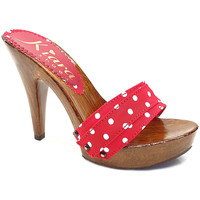 Chaussures Femme Mules Kiara Shoes K21101 Pois Rouge