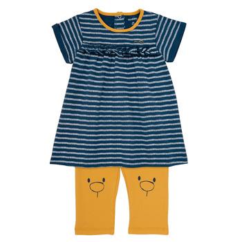 Vêtements Fille Robes courtes Noukie's AYOUB Bleu / Jaune