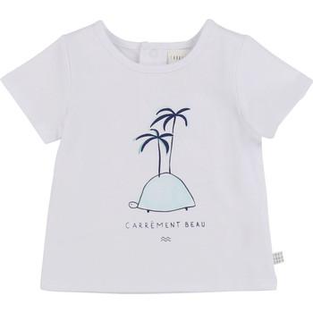 Vêtements Garçon T-shirts manches courtes Carrément Beau MARTINEZ Blanc