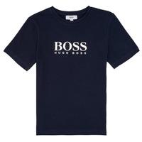 Vêtements Garçon T-shirts manches courtes BOSS MARIA Bleu
