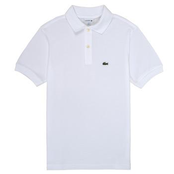 Vêtements Garçon Polos manches courtes Lacoste ELYAN Blanc