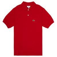 Vêtements Garçon Polos manches courtes Lacoste ANAICK Rouge