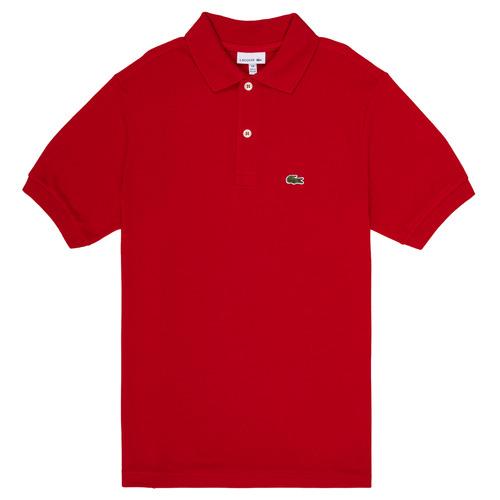 Vêtements Garçon Polos manches courtes Lacoste LOLLA Rouge