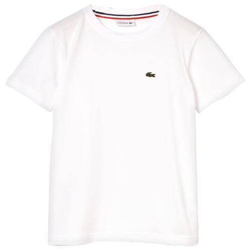 Vêtements Garçon T-shirts manches courtes Lacoste ALIZE Blanc