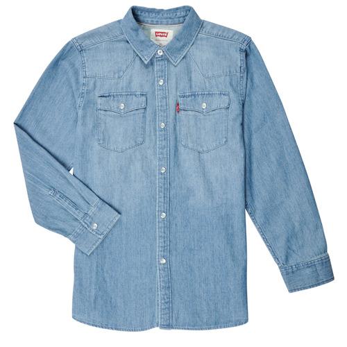 Vêtements Garçon Chemises manches longues Levi's BARSTOW WESTERN SHIRT Bleu