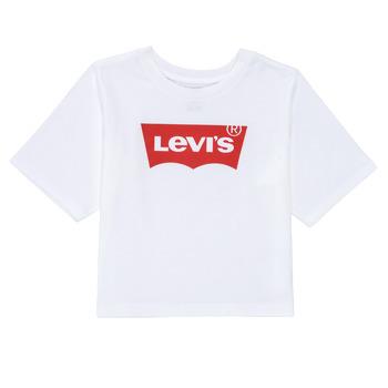 Vêtements Fille T-shirts manches courtes Levi's LIGHT BRIGHT HIGH RISE TOP Blanc