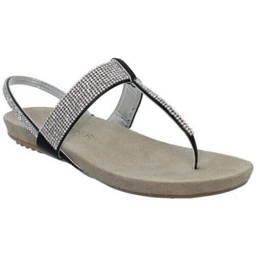 Chaussures Femme Sandales et Nu-pieds Meline Sandales Méliné ref_elle37186-noir Noir