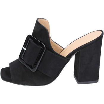 Chaussures Femme Mules Broccoli sandales daim noir