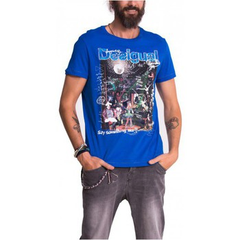 Vêtements Homme T-shirts manches courtes Desigual T-Shirt MINAS 51T14C9 turkish sea Bleu