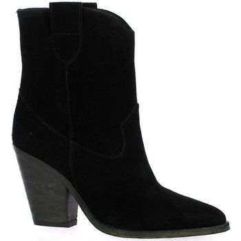 Chaussures Femme Bottines Giancarlo Boots cuir velours Noir