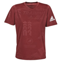 Vêtements Homme T-shirts manches courtes adidas Performance DAILY PRESS TEE Rouge