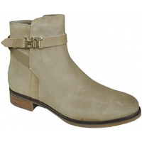 Chaussures Femme Bottines Tommy Hilfiger Bottines plates  beige en daim pour femme Marron