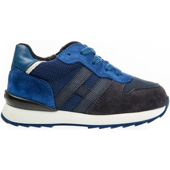 Chaussures Enfant Baskets basses Hogan HXT4840CF90IDU748V Bleu / Bleu