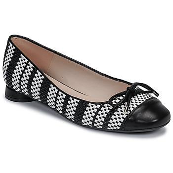 Chaussures Femme Ballerines / babies Fericelli MARYA Noir et blanc