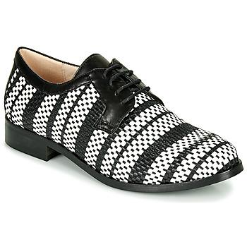 Chaussures Femme Derbies Fericelli MILEYNE Noir et blanc