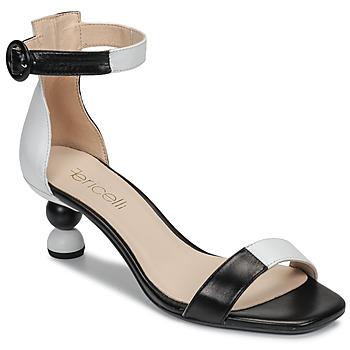 Chaussures Femme Sandales et Nu-pieds Fericelli MARC Noir et blanc