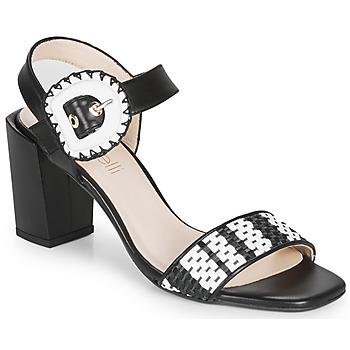 Chaussures Femme Sandales et Nu-pieds Fericelli MAIRA Noir et blanc