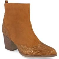 Chaussures Femme Bottines Buonarotti 2A-9661 Camel
