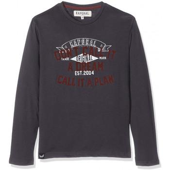 T-shirt enfant Kaporal T-Shirt Manches Longues Garçon Neam Gris