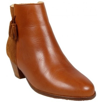 Chaussures Femme Bottines Bobbies Boots Linsouciante Cognac Marron