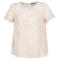 Vêtements Femme Tops / Blouses Benetton DANIEL Blanc / Multicolore