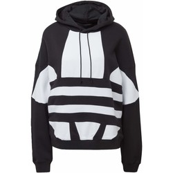 Vêtements Femme Sweats adidas Originals Sweat-shirt à capuche Large Logo noir / blanc