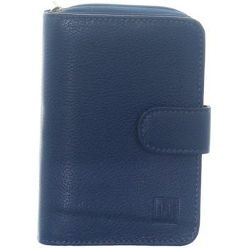 Sacs Femme Portefeuilles Hexagona Portefeuille  en cuir ref_36664 Bleu 13*9,5*2 Bleu