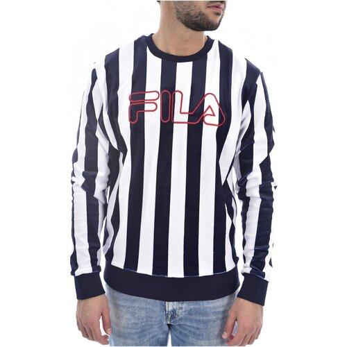 Vêtements Homme Sweats Fila Sweat Velours Rayé  684469 Socca  - les BLEUS