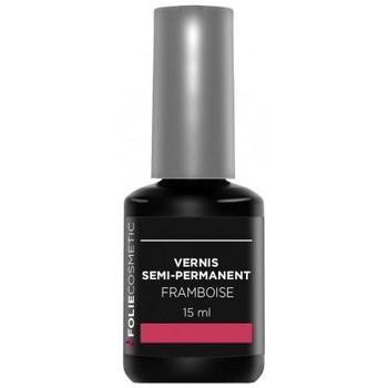 Beauté Femme Vernis à ongles Folie Cosmetic Vernis Semi permanent  Framboise   15ml Rose