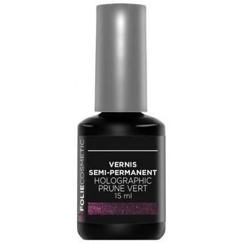 Beauté Femme Vernis à ongles Folie Cosmetic Vernis Semi permanent  Holographic Prune vert   15 m... Violet