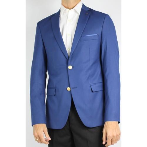 Vêtements Homme Vestes de costume Kebello Veste de blazer 2 boutons H Bleu Bleu