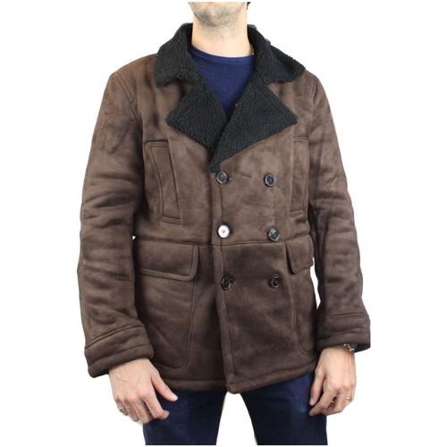 Vêtements Homme Manteaux Kebello Caban court sherpa H Marron Marron
