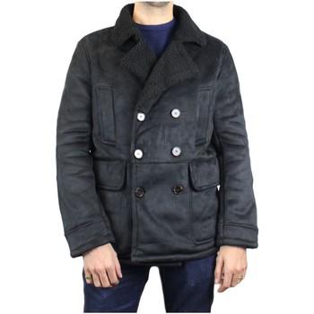 Vêtements Homme Manteaux Kebello Caban court sherpa H Noir Noir