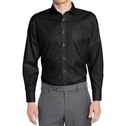 Vêtements Homme Chemises manches longues Kebello Chemise classique Taille : H Noir S Noir