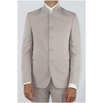 Vêtements Homme Vestes de costume Kebello Veste col mao Taille : H Beige 46 Beige