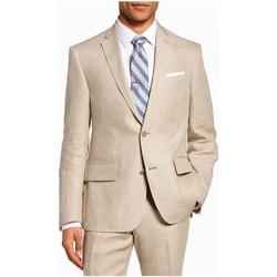 Vêtements Homme Vestes de costume Kebello Veste en lin Taille : H Beige 46 Beige