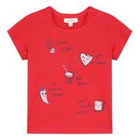 Vêtements Fille T-shirts manches courtes Catimini MUSIKOU Rouge